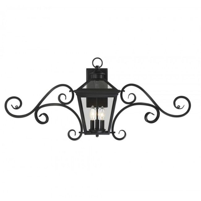 Ellijay Outdoor Scroll Wall Sconce  by Savoy House
