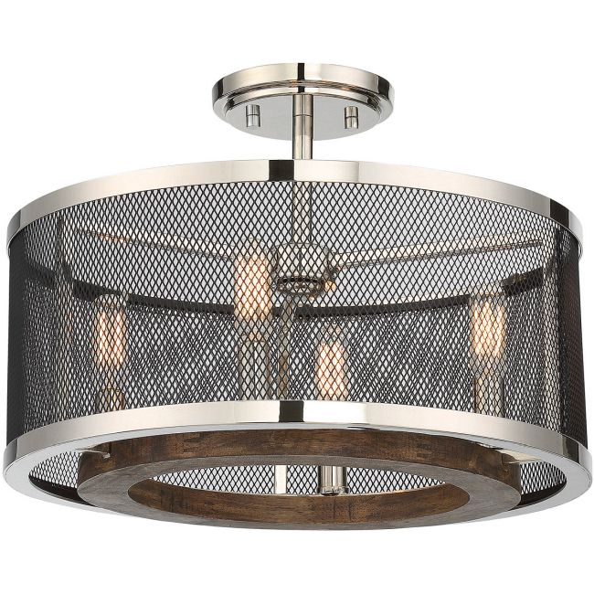 Valcour Ceiling Semi Flush Light  by Savoy House