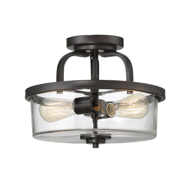 Tulsa Ceiling Semi Flush Light  by Savoy House