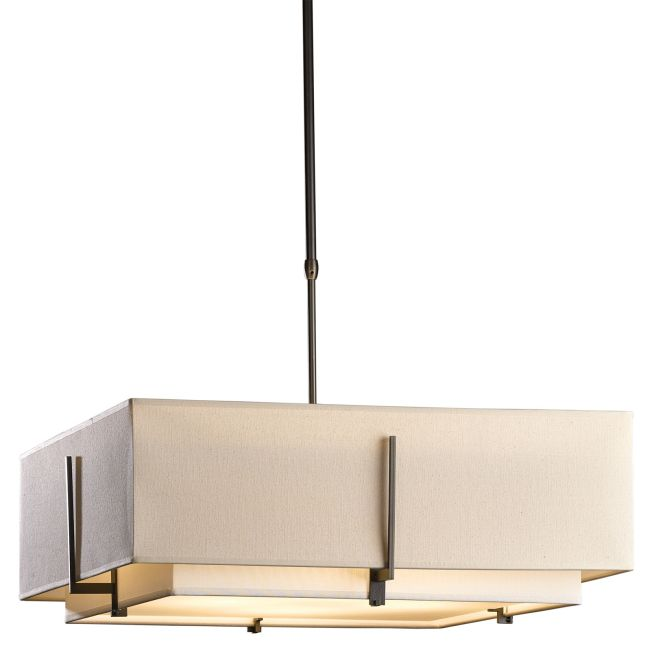 Exos Square Double Shade Pendant  by Hubbardton Forge