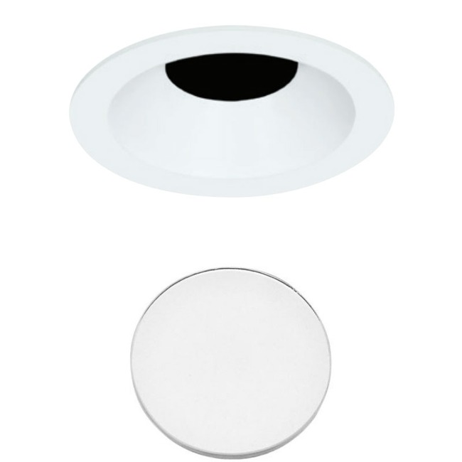 3 Inch Round Flanged Bevel Lensed Shower Trim  by Element by Tech Lighting