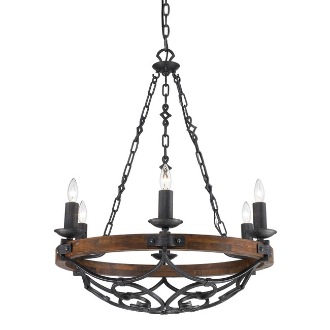 Madera Chandelier  by Golden Lighting