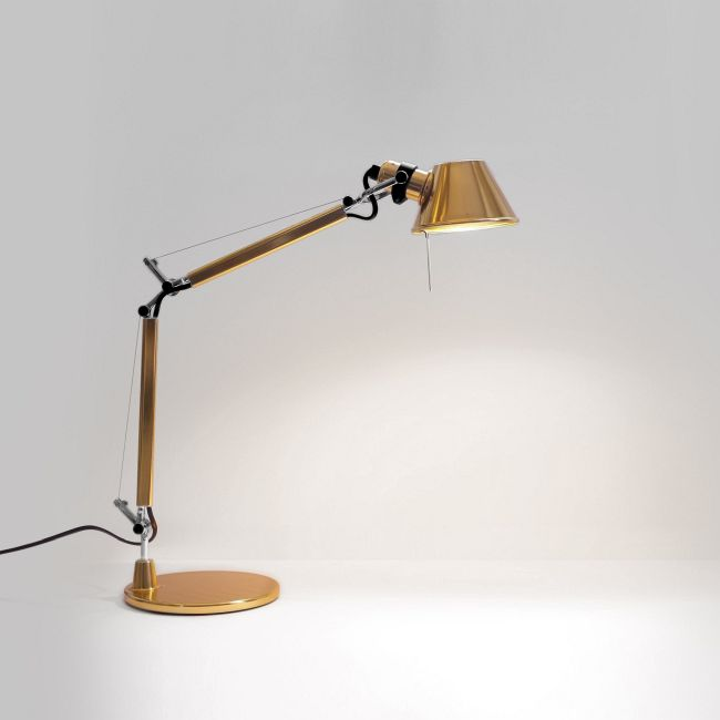 Tolomeo Micro Gold Limited Edition Desk Lamp  by Artemide