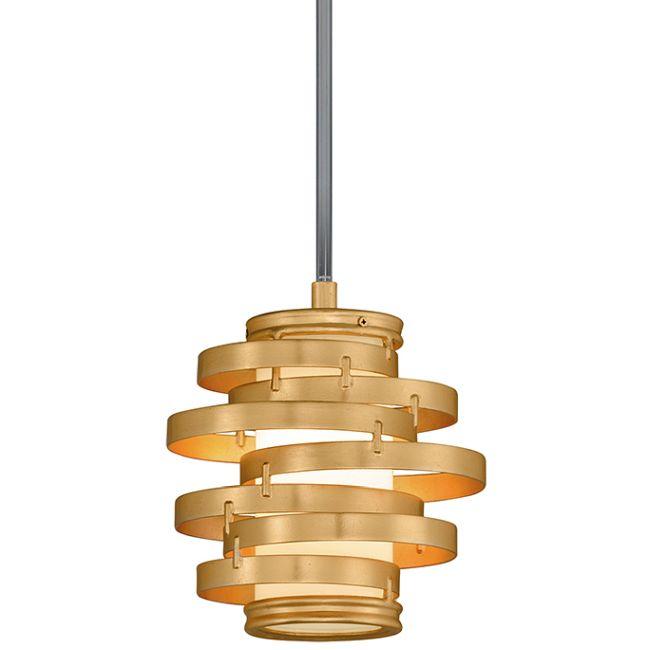Vertigo Gold Leaf Pendant  by Corbett Lighting
