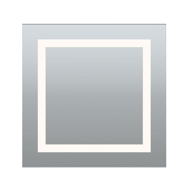 Plaza Small Dimmable Fluorescent Mirror by PureEdge Lighting | PLAZA-S-F1D