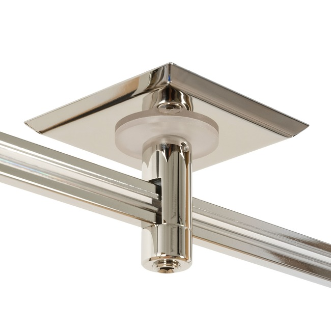Monorail 2 Inch Square Single Feed Power Canopy by PureEdge Lighting | MP-2SQ-1-SN