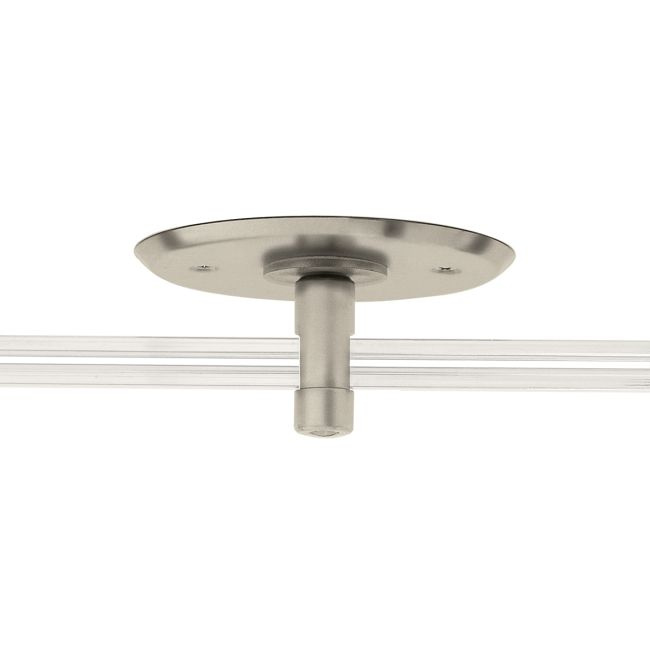 Monorail 4 Inch Round Single Feed Canopy by PureEdge Lighting | MP-4RD-96-SN