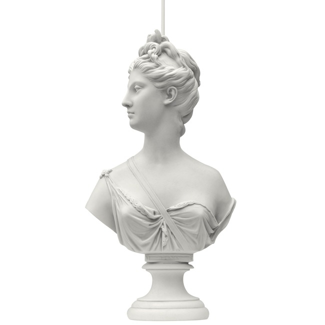 Suspended Statuary Muse Pendant  by Mineheart