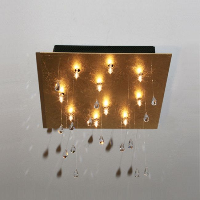 Crystal Rain Square Ceiling Mount  by Lightology Collection