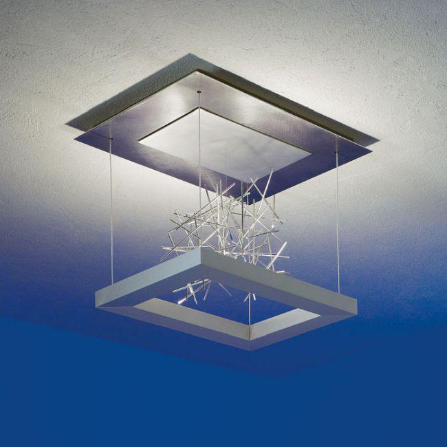 Della Luna Suspension W / Network Sculpture by Lightology Collection | LC-84080299