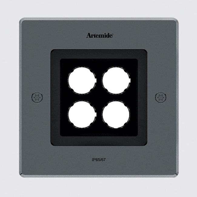 Ego 150 Spot Outdoor Square Recessed Ground Light  by Artemide