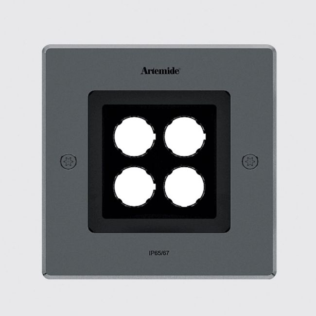 Ego 150 Wall Wash Outdoor Square Ceiling Downlight  by Artemide