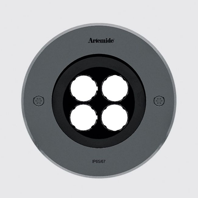 Ego 150 Wall Wash Outdoor Round Ceiling Downlight  by Artemide