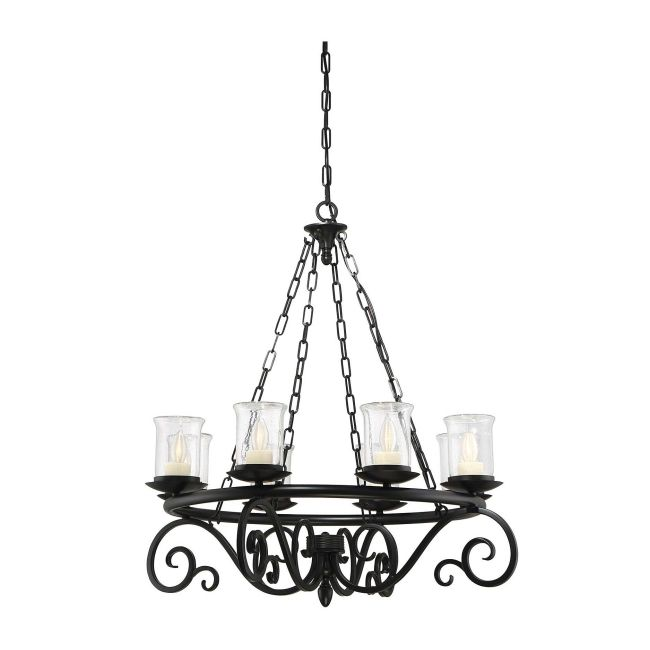Welch Outdoor Chandelier by Savoy House  by Savoy House