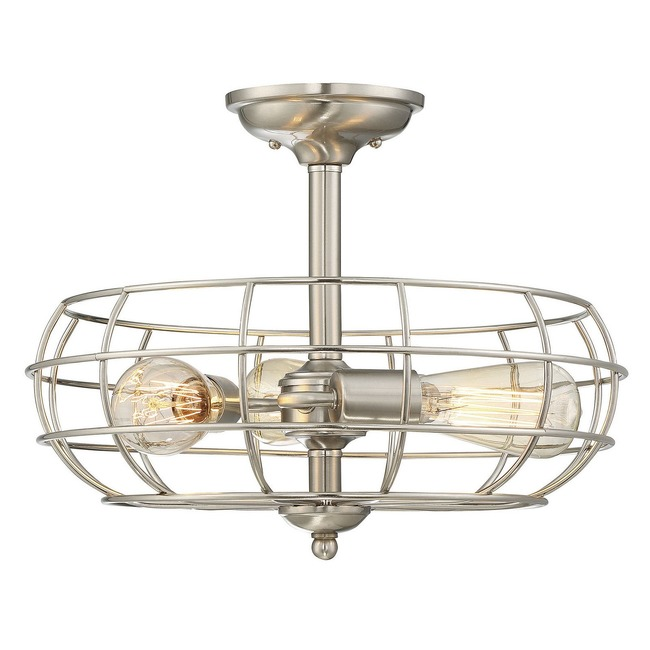 Scout Round Ceiling Semi Flush Light  by Savoy House