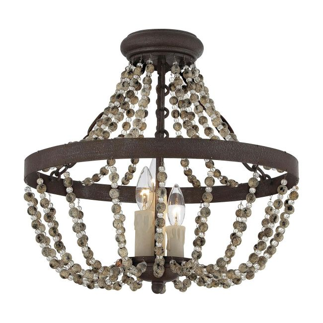 Mallory Ceiling Semi Flush Light by Savoy House  by Savoy House