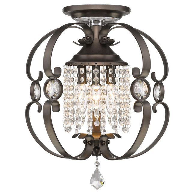 Ella Semi Flush Ceiling Light  by Golden Lighting