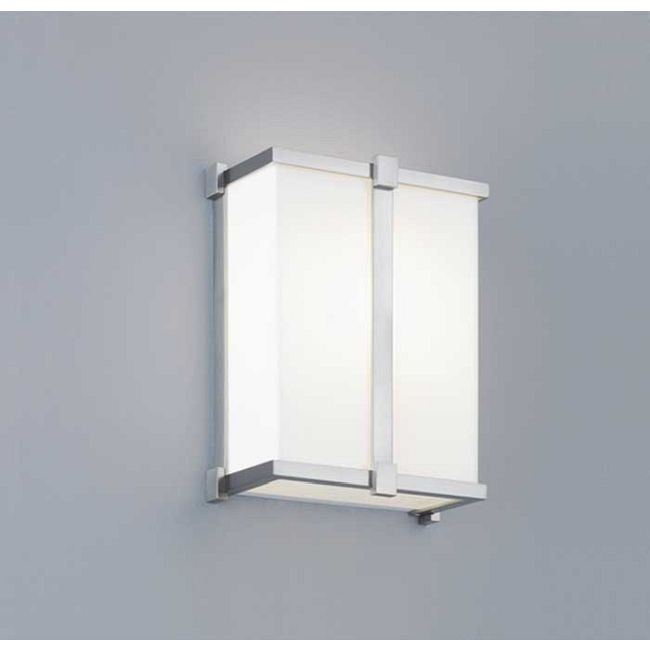 Hatbox Square Wall Sconce by ILEX | HSS-BN-SH-WM-IN