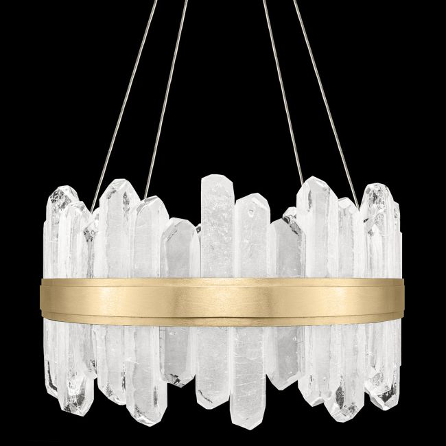 Lior Short Symmetrical Crystals Pendant  by Fine Art Lamps