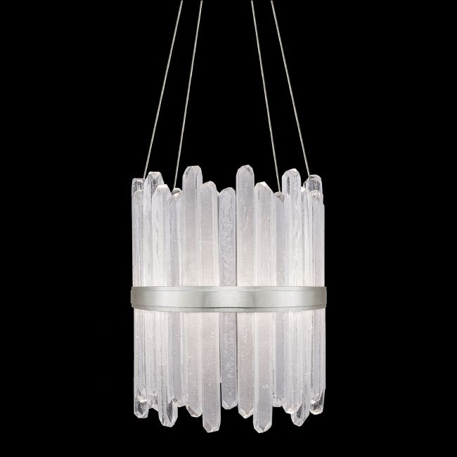Lior Tall Symmetrical Crystals Pendant  by Fine Art Handcrafted Lighting