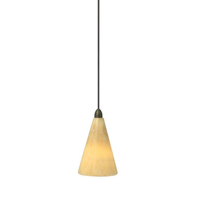 FJ Onyx Cone Pendant by LBL Lighting | HS451ONBZ1B50FSJ