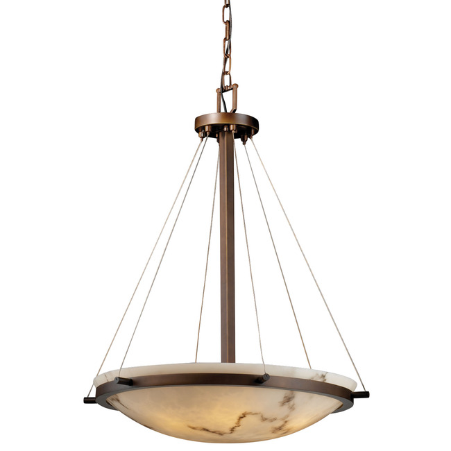 Round Bowl W / Ring Suspension by Justice Design | FAL-9692-35-DBRZ