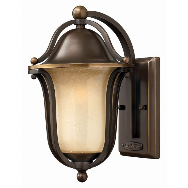 Bolla Curved Arm Outdoor Wall Light by Hinkley Lighting | 2630OB