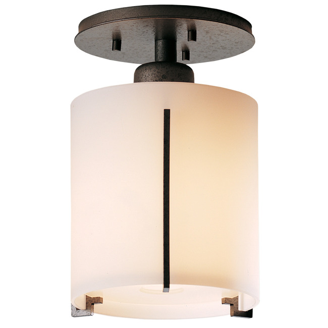 Exos Round Glass Semi Flush Ceiling Light by Hubbardton Forge | 123775-1015