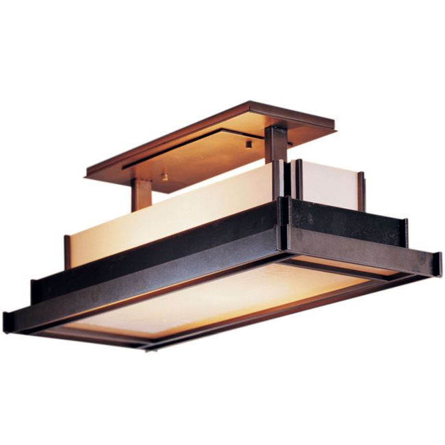 Steppe Rectangle Semi Flush Ceiling Light by Hubbardton Forge | 123709-1004