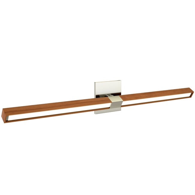 Tie Stix Wood Horizontal Adjustable Wall Light  by PureEdge Lighting