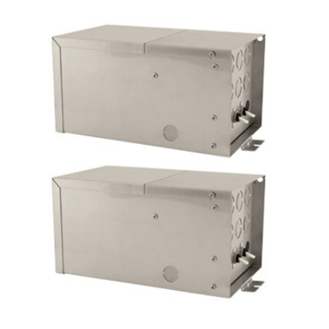 Remote 4x300W 12V Dual Feed Magnetic Transformer by PureEdge Lighting | T-4X300-D12