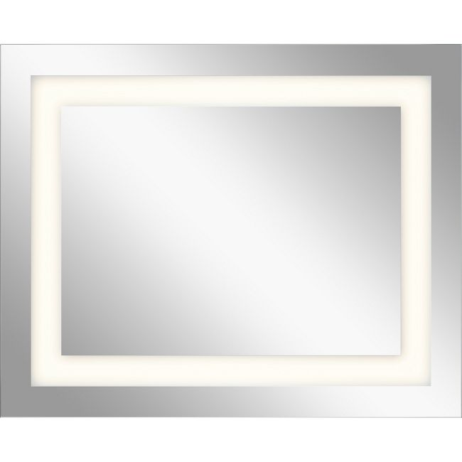 Mirror with Rectangle Inlay Glass  by Elan