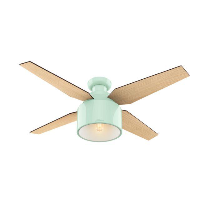 Cranbrook Low Profile Ceiling Fan with Light  by Hunter Fan