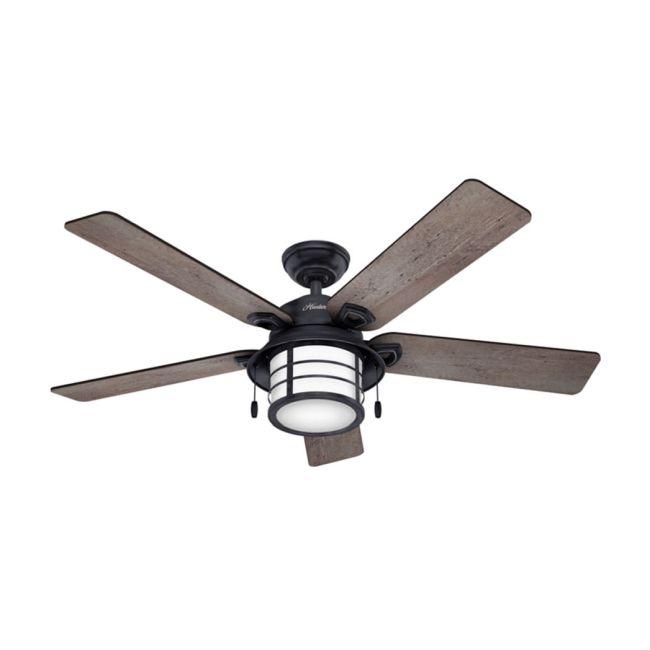 Key Biscayne Outdoor Ceiling Fan with Light  by Hunter Fan