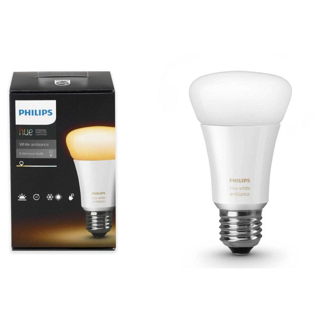 Hue A19 Med Base 10.5W White Ambiance Add-On Smart LED  by Philips Hue