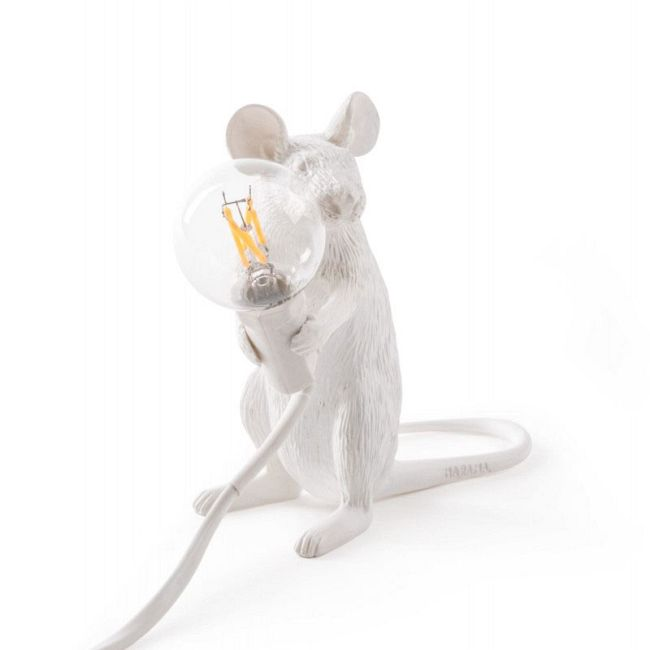 Mouse Sitting Table Lamp  by Seletti