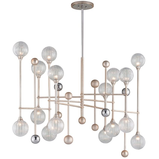 Majorette Linear Chandelier  by Corbett Lighting