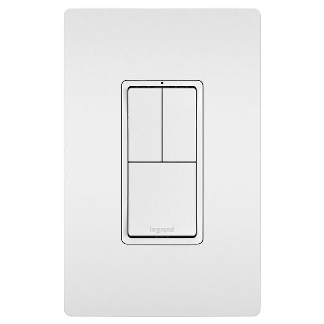 3-Module with Single and 3-Way Switches  by Legrand Radiant