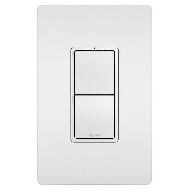 2-Module with Single Pole Switches  by Legrand Radiant