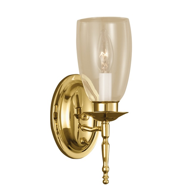 Legacy Wall Light by Norwell Lighting | 3306-PB-CL