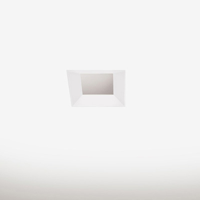 SQUARE BEVELED 2 INCH WHITE TRIM ONLY  by PureEdge Lighting