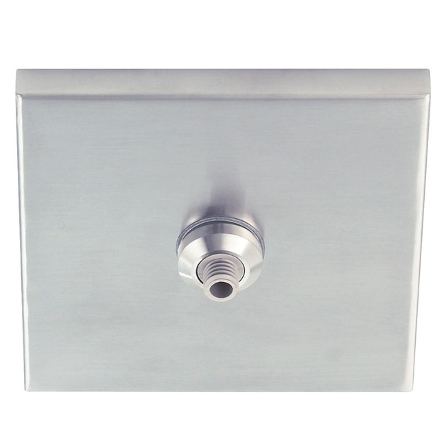 4 Inch Square Canopy with Freejack Port  by Tech Lighting