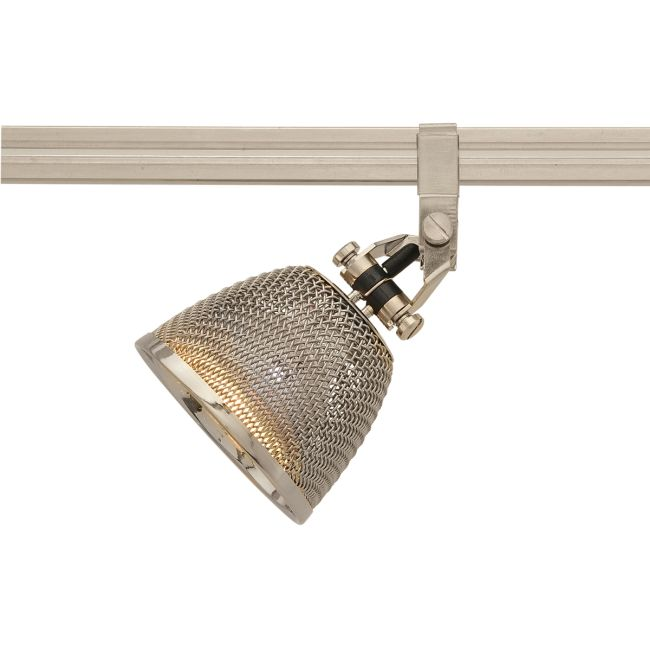 Monorail Vespa Head With S2 Little Mesh Shade by PureEdge Lighting | M-VES-SN-S2-PN
