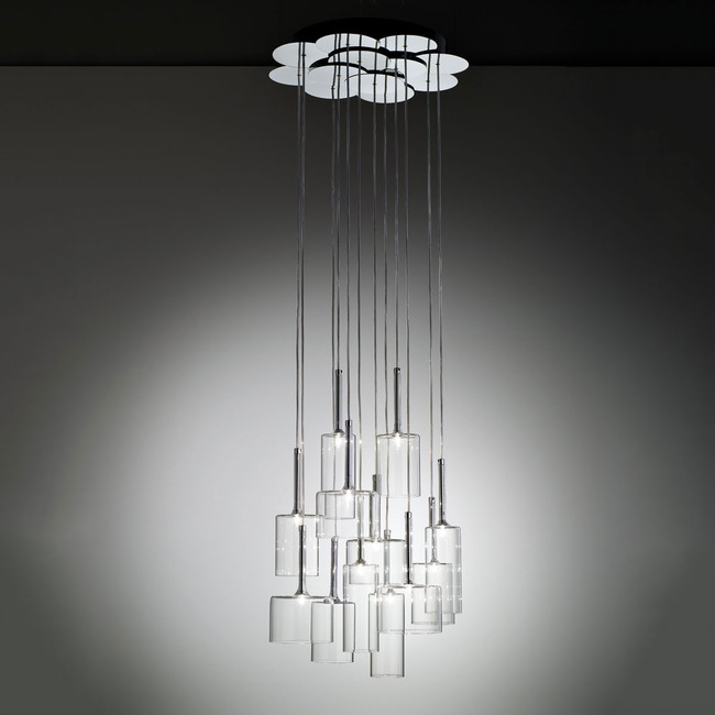 Spillray 12 Light Pendant by Axo Light | USSPIL12CSCR12V