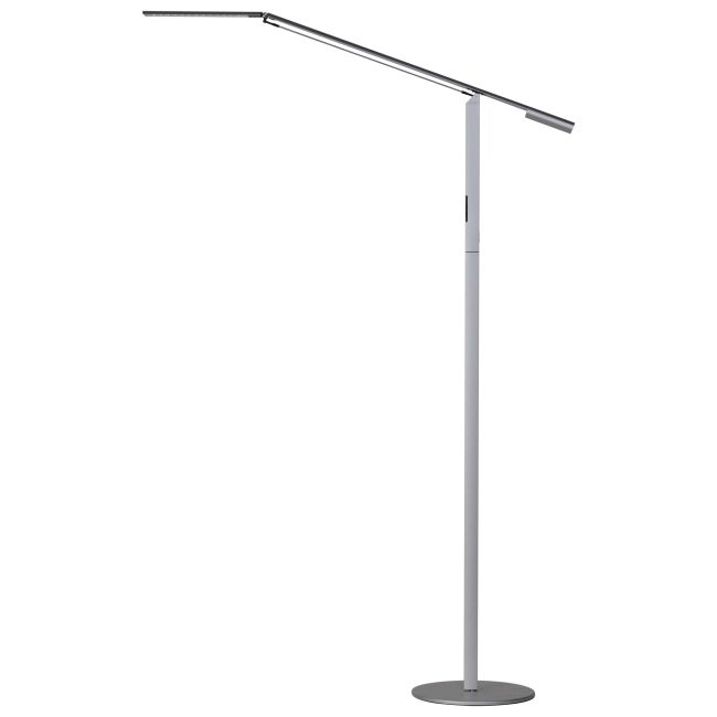 Equo LED Floor Lamp 3500K by Koncept Lighting   ELX-A-W-SIL-FLR
