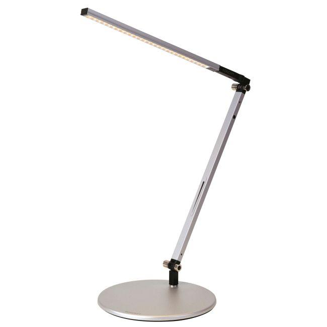 Z-Bar Solo Mini LED Desk Lamp by Koncept Lighting | AR1100-WD-SIL-DSK