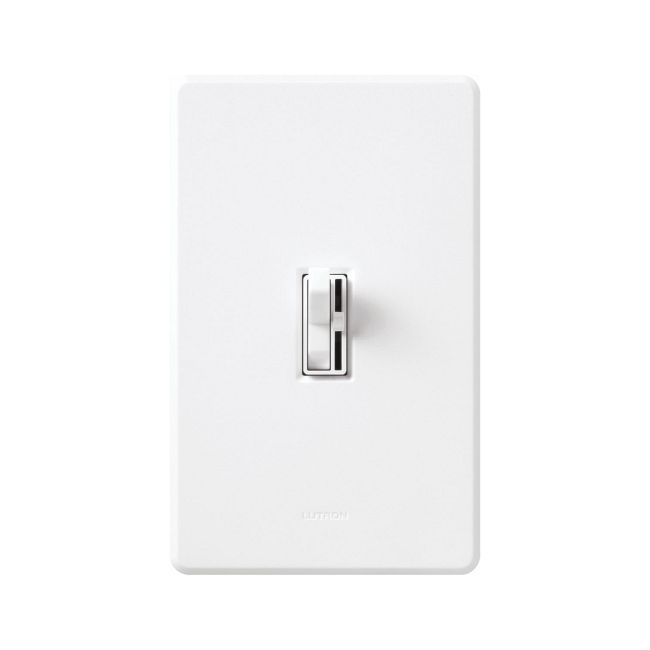Ariadni Low Voltage 600VA Single Pole Dimmer by Lutron | aylv-600p-wh