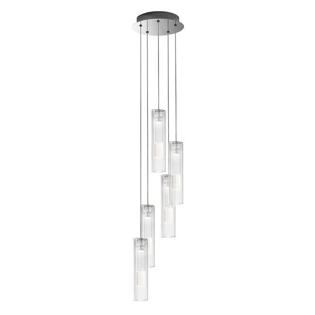 Fairy Cylindrical 5 Light Suspension by Leucos | LEU-0703266013465