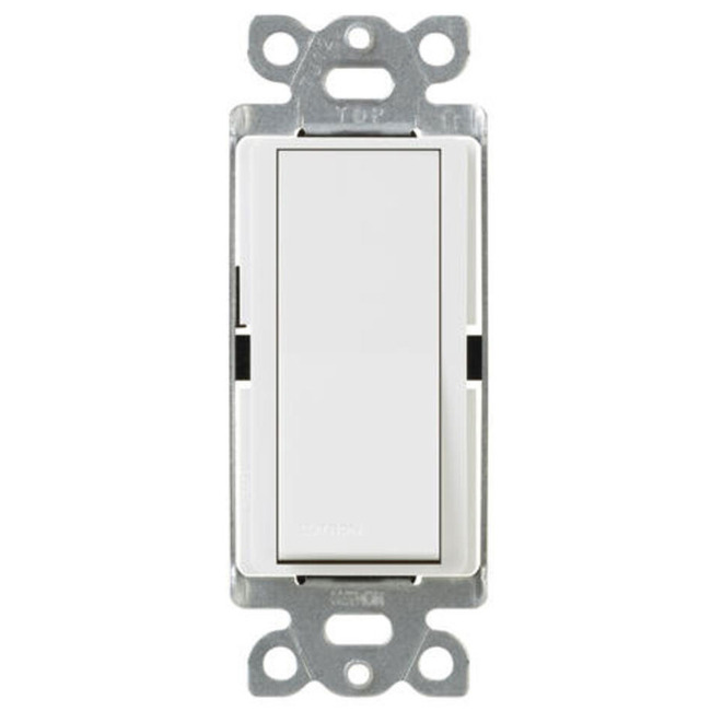 Diva Single Pole Switch by Lutron | ca-1ps-wh