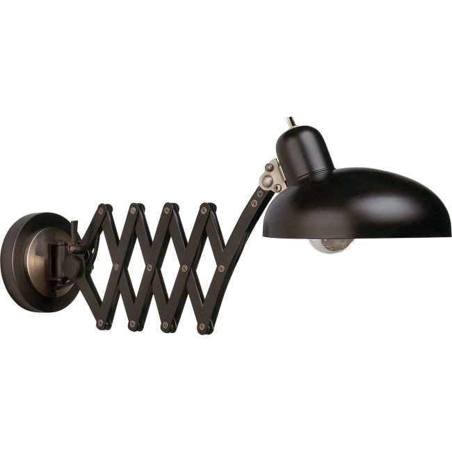 Bruno Scissor Arm Pharmacy Wall Sconce  by Robert Abbey